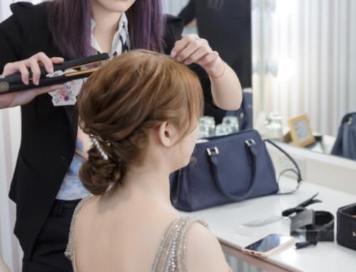 宜蘭新秘-新娘造型-髮色&飾品